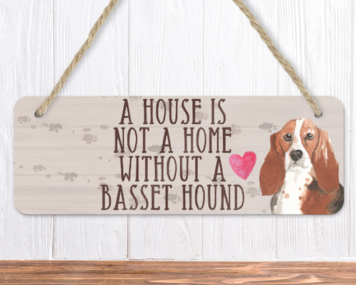 basset hound dog sign wall sign dog lover gifts