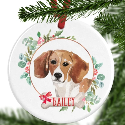 Beagle Personalised Christmas Ornament