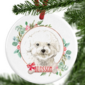 Bichon Frise Personalised Christmas Ornament