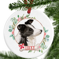Border Collie Personalised Christmas Ornament