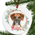 Boxer Dog Personalised Christmas Ornament