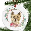 Cairn Terrier Personalised Christmas Ornament