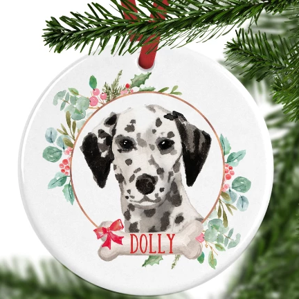 Dalmatian Personalised Christmas Ornament