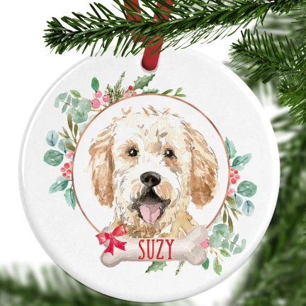 Golden Doodle Personalised Christmas Ornament