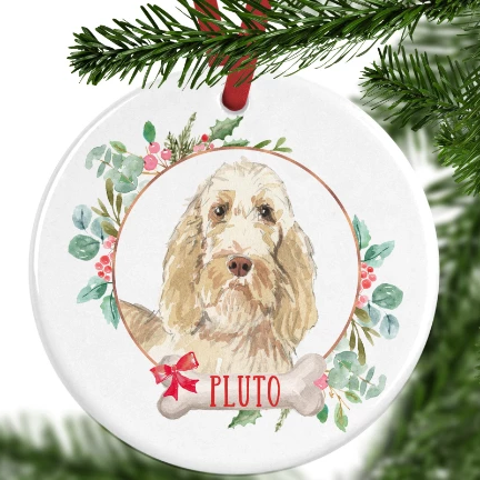 Italian Spinone Personalised Christmas Ornament
