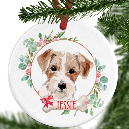 Jack Russell Personalised Christmas Ornament