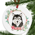 Malamute Personalised Christmas Ornament