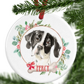 Pointer Personalised Christmas Ornament