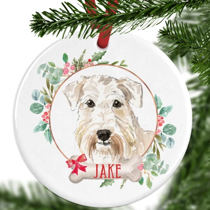 Wheaten Terrier Personalised Christmas Ornament