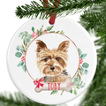 Yorkshire Terrier Personalised Christmas Ornament