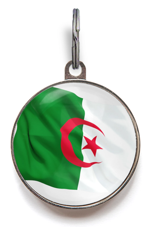 Algeria Flag Pet ID Tag