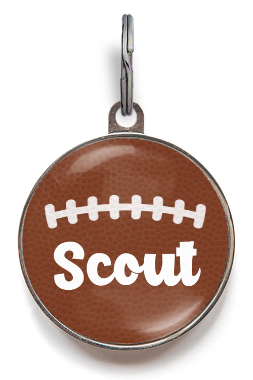 American Football Dog ID Tag