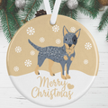 Australian Cattle Dog Christmas Decoration - Gold