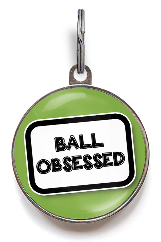 Ball Obsessed Dog ID Tag