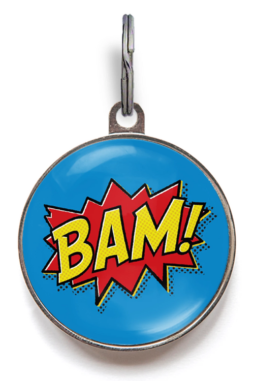 Bam! Superhero Pet Tag