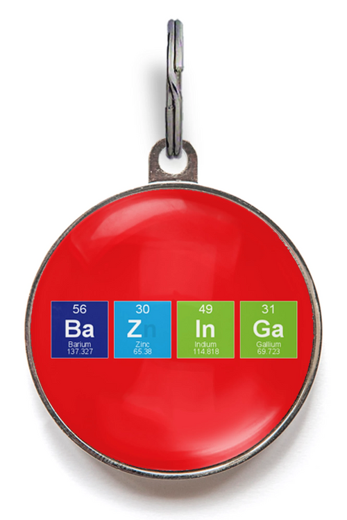 Bazinga Pet Tag