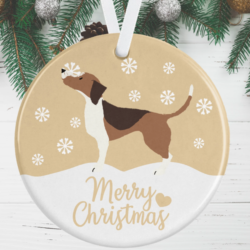 Beagle Christmas Decoration - Gold