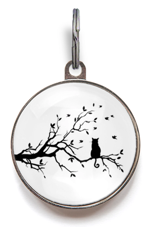 Bird Watching Cat ID Tag