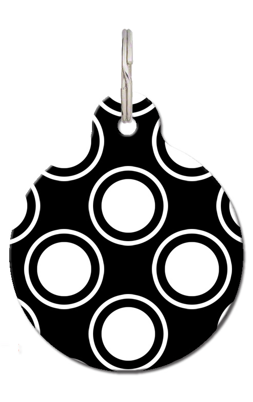 Black Circles Pet Tag