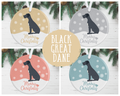 Black Great Dane Christmas Decoration