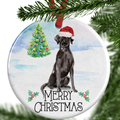 Black Labrador Christmas Ornament
