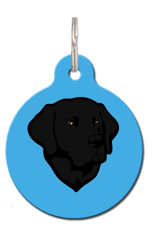 Black Labrador Dog ID Tag