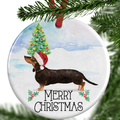 Black & Tan Dachshund Christmas Ornament