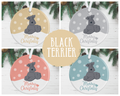 Black Terrier Christmas Decoration