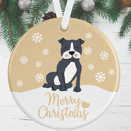 Staffie Christmas Decoration