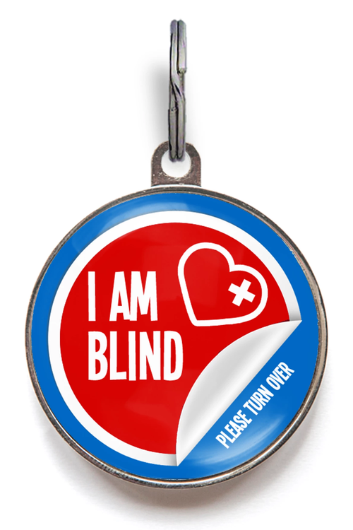 I Am Blind Medical Pet Tag