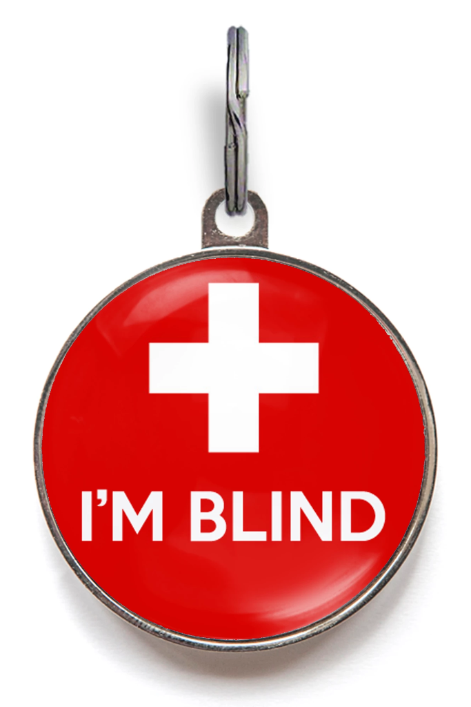 Blind Pet ID Tag