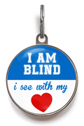 Blind Pet ID Tag - Blue