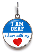 Deaf Pet ID Tag - Blue