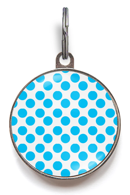 Blue Spots Pet ID Tag