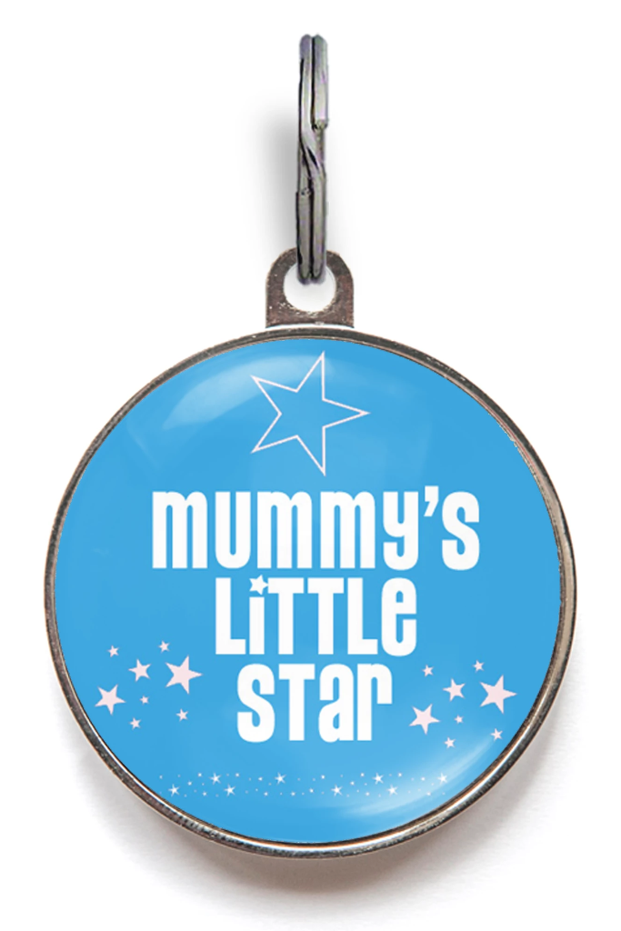 Mummy's Little Star Pet Tag - Blue