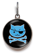 Blue Pirate Kitty Cat Tag
