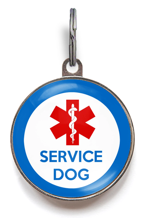 Service Dog Pet Tag - Blue