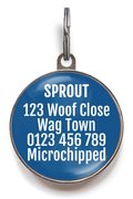 Spoiled Rotten Pet ID Tag - Blue