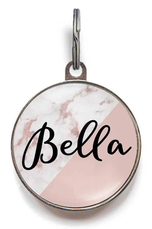 Blush Marble Dog Tag