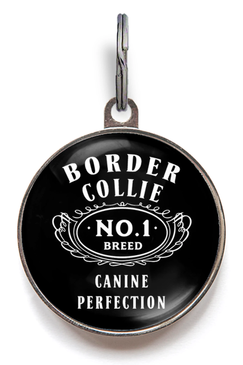 Border Collie Breed Dog ID Tag