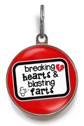 Breaking Hearts & Blasting Farts Funny Pet Tag