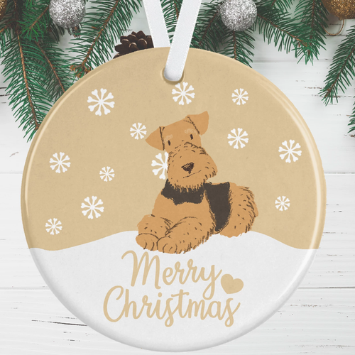 Terrier Christmas Decoration