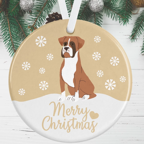 Boxer Dog Christmas Decoration