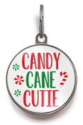 Candy Cane Cutie Christmas Dog Tag