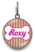 Candy Stripes Dog ID Tag