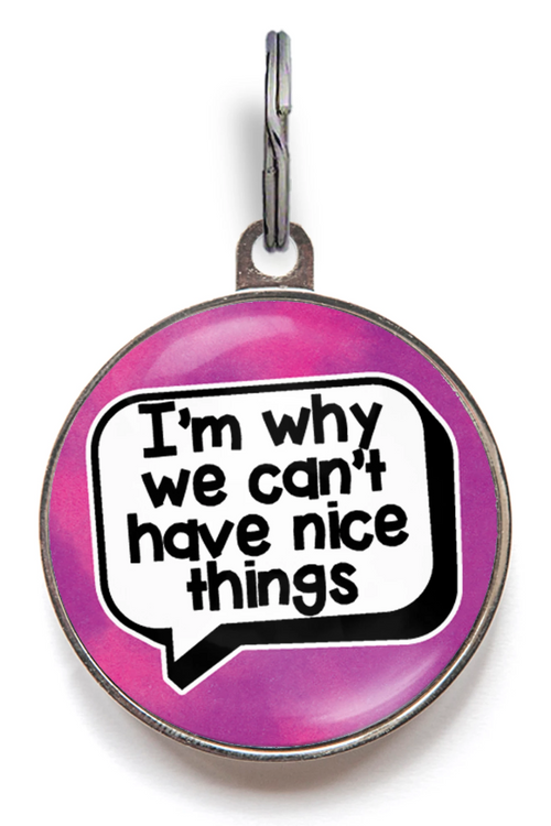 I'm Why We Can't Have Nice Things Pet Tag