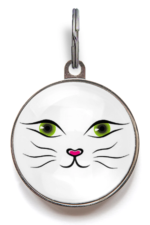 Cat Face Cat ID Tag