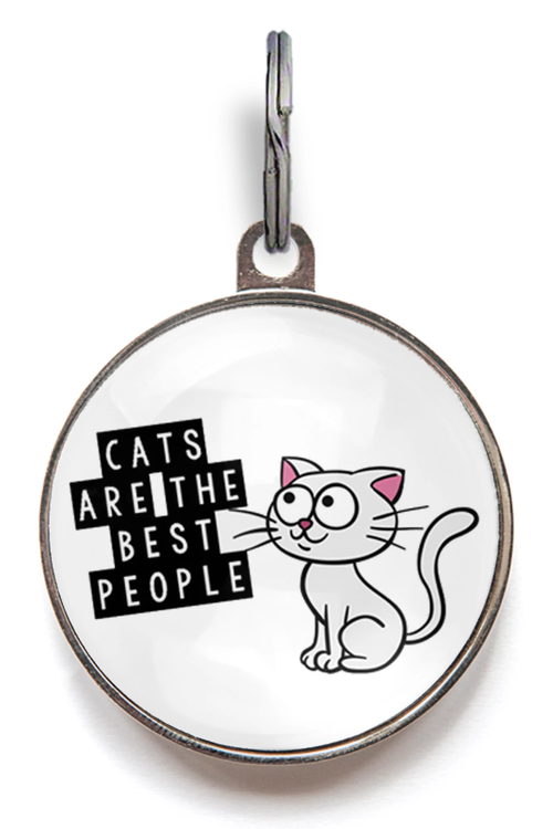 Cats Are The Best People Cat Tag