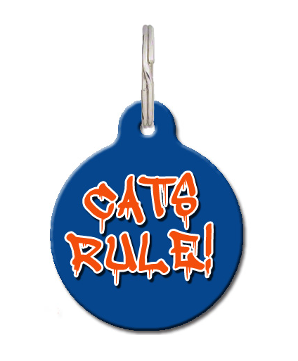 Cats Rule Cat ID Tag