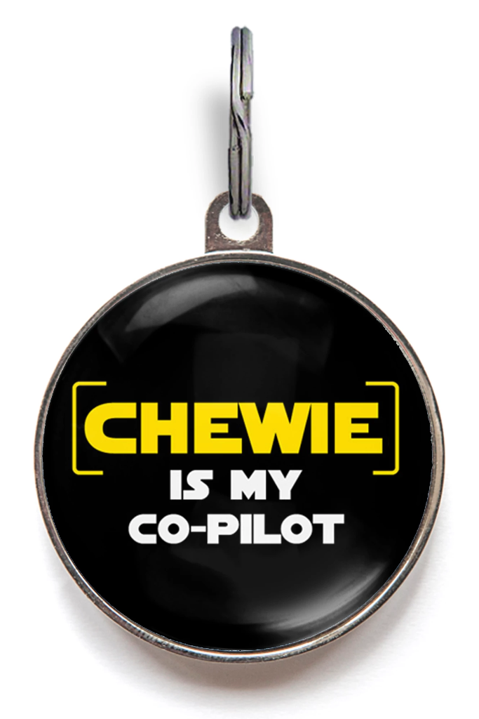 Chewie Is My Co-Pilot Pet ID Tag